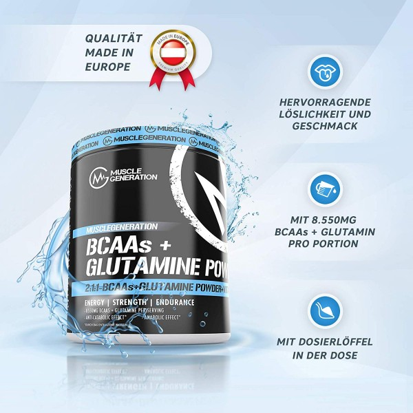 Musclegeneration BCAAs + Glutamine Powder 400g