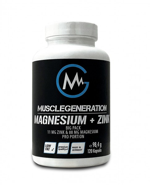 Musclegeneration Magnesium Big Pack mit Zink 120 Kapseln